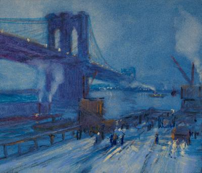 Jonas Lie View of Brooklyn Bridge
