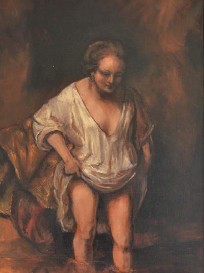 Jonathan Adams Woman Bathing Rembrandt