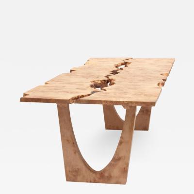 Jonathan Field Burr Maple table