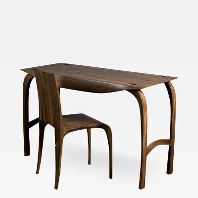 Jonathan Field Desk in Solid English Walnut Design No5 2019