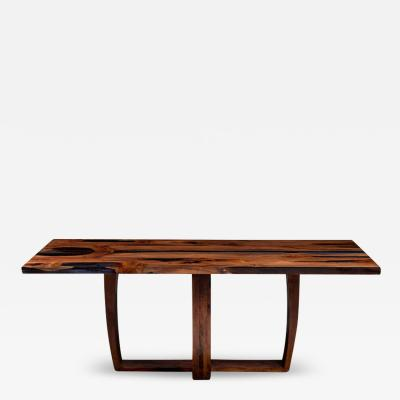 Jonathan Field Yew Table with Trapeze Legs Autumn 2020