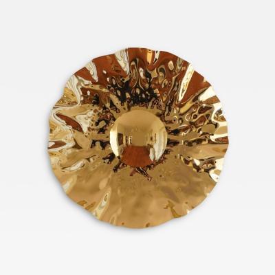 Jonathan Souli LOEIL DU SOLEIL Sculptural brass mirror