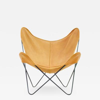 Jorge Ferrari Hardoy Butterfly Lounge Chair with Cognac Brown Leather by Jorge Hardoy for Knoll