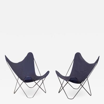 Jorge Ferrari Hardoy Pair of Vintage BKF Hardoy Butterfly Chairs for Knoll