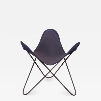 Jorge Ferrari Hardoy Vintage BKF Hardoy Butterfly Chair Footstool for Knoll