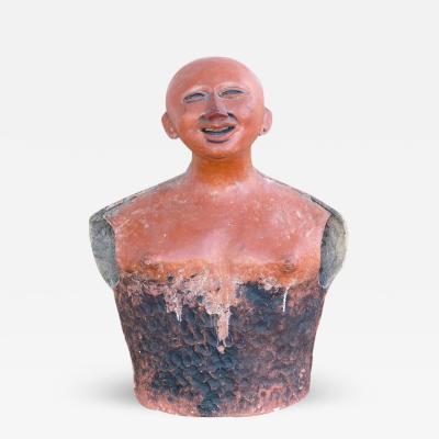 Jorge Marin 20th Century Pre Columbian Influenced Terracotta Sculpture by Jorge Marin
