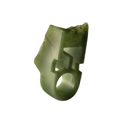 Jorge Y zpik RING JADE 2 sculptural jewelry