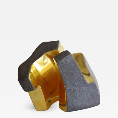 Jorge Y zpik UNTITLED CERAMIC AND GOLD sculpture 2