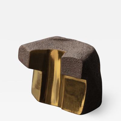 Jorge Y zpik UNTITLED CERAMIC AND GOLD sculpture 3
