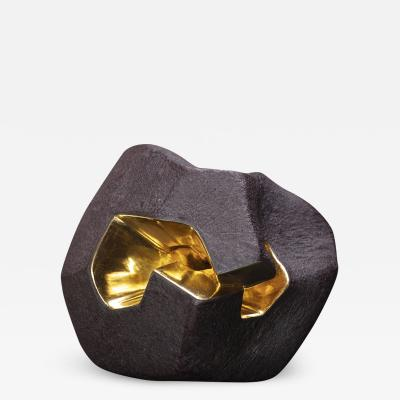 Jorge Y zpik Untitled Sin Titulo sculpture solid clay gold plated