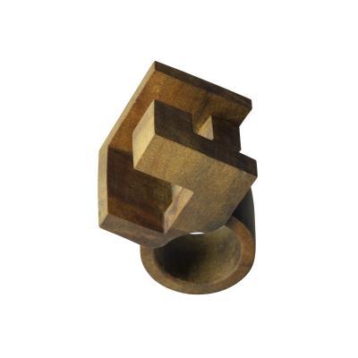Jorge Y zpik WOOD RING sculptural jewelry
