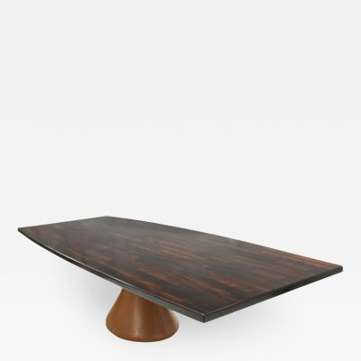 Jorge Zalszupin Jorge Zalszupin Jacaranda Wood and Concrete Guanabara Table Brazil 1970s