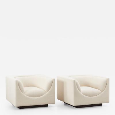 Jorge Zalszupin Jorge Zalszupin pair Cubo chairs L Atelier Brazil Brazil 1970