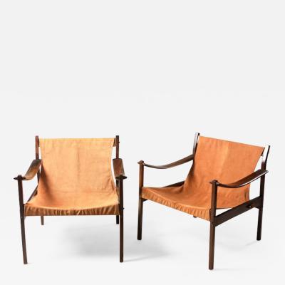 Jorge Zalszupin Mid Century Modern Pair of Model 720 Armchairs by Jorge Zalszupin Brazil 1960s