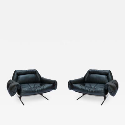 Jorge Zalszupin Pair of Jorge Zalszupin 1960s Brazilian Jacaranda Presidencial Lounge Chairs