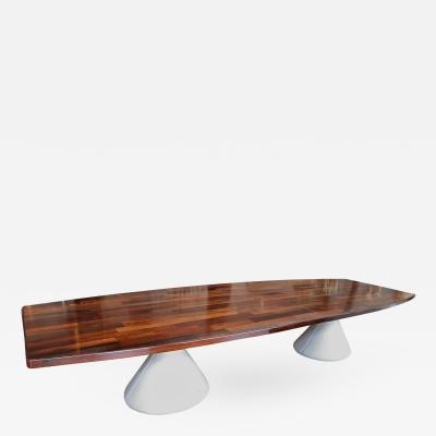 Jorge Zalszupin Parquet Brazilian Jacaranda Guaruj Dining Table by Jorge Zalszupin