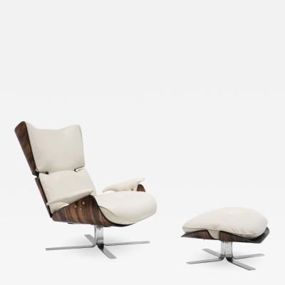 Jorge Zalszupin Paulistana Lounge Chair Ottoman