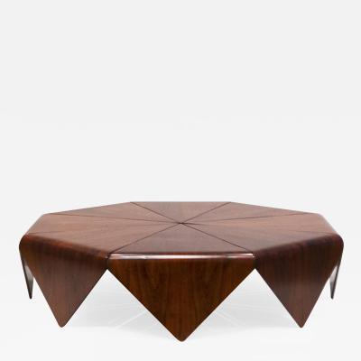 Jorge Zalszupin Petala coffee table in jacaranda wood