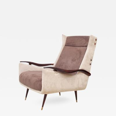 Jorge Zalszupin Vintage High Back lounge armchair by Jorge Zalszupin
