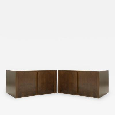 Jorgen Clausen Floating Tambour Door Cabinets by Jorgen Clausen Denmark 1950s