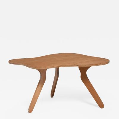 Jos Zanine Caldas Jos Zanine Caldas free form plywood coffee table Brazil 1950s