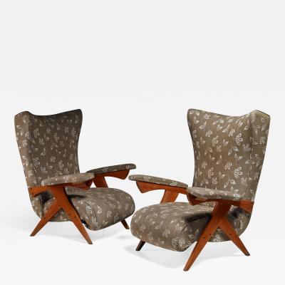 Jos Zanine Caldas Jose Zanine Caldas pair of Cuca lounge chairs Brazil 1950s
