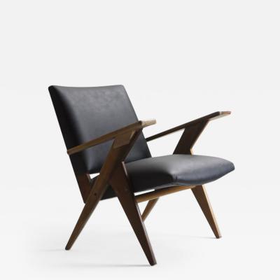 Jos Zanine Caldas Mid Century Modern Brazilian armchair from Linha Z by Jos Zanine Caldas