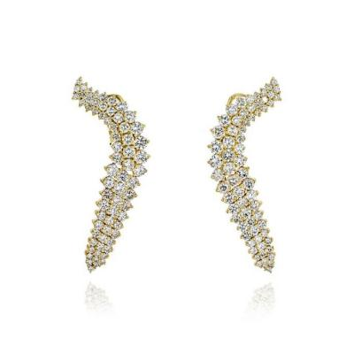 Jose Hess JOSE HESS 18K YELLOW GOLD 7 50 CARATS DIAMOND WINGS EARRINGS