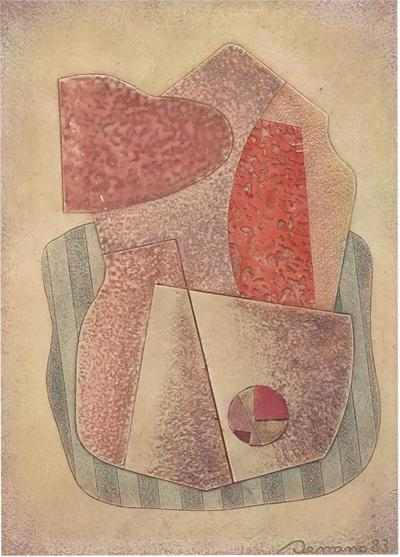 Jose Luis Serrano Jose Luis Serrano Abstract Modern Painting Mexican 1980s Art