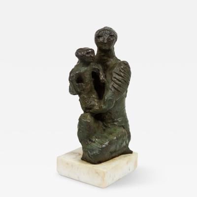 Jose Mariano Page s Mother and Child Bronze by Jose Mariano Page s Sculpture