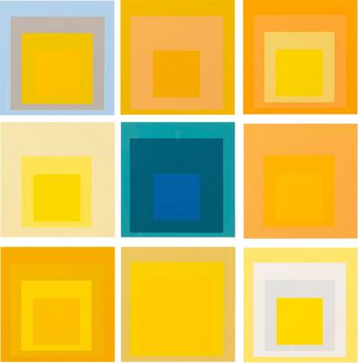 Josef Albers Homage to the Square Serigraphs by Josef Albers