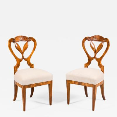 Josef Danhauser A Pair of Two Exceptional Biedermeier Chairs