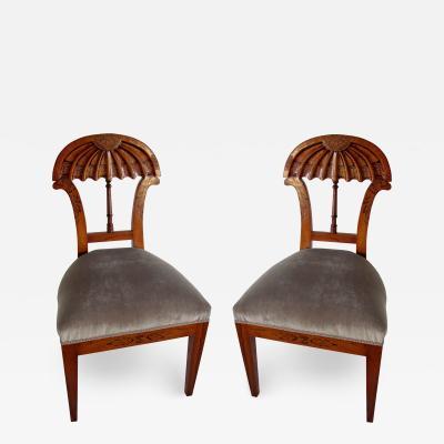 Josef Danhauser A Superb Set of Ten Viennese Biedermeier Dining Side Chairs Josef Danhauser