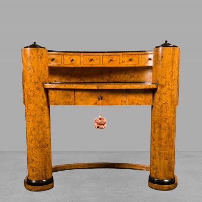Josef Danhauser Biedermeier Oval Desk Designed by Josef Danhauser