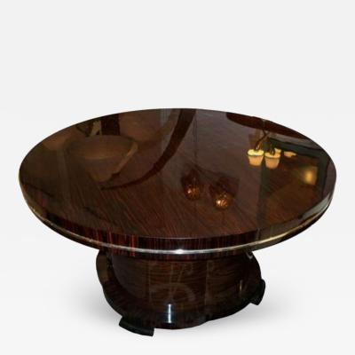 Josef DeCoene A Large Round Extending Art Deco Dining Table by Josef DeCoene