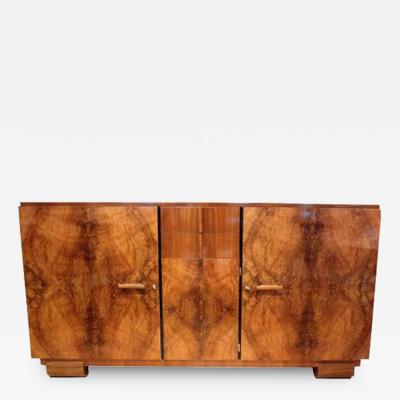 Josef DeCoene An Art Deco Sideboard in Figured Walnut by Josef DeCoene