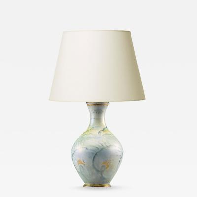 Josef Ekberg Romantic table lamp by Josef Ekberg for Gustavsberg