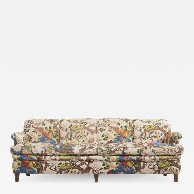 Josef Frank 4 Seat Sofa with Floral Fabric by Josef Frank for Svenskt Tenn 1950s
