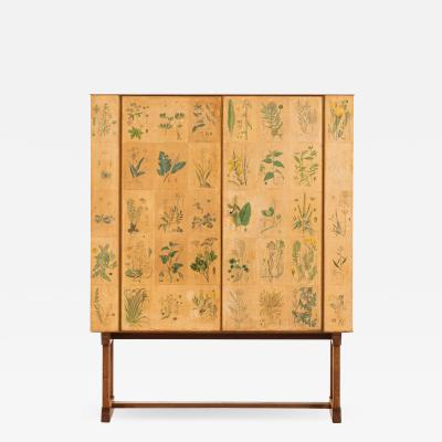 Josef Frank Flora Model 852 Cabinet Produced by Svenskt Tenn