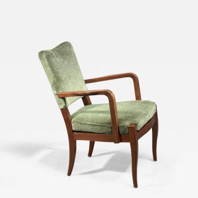 Josef Frank Josef Frank mahogany and velvet armchair