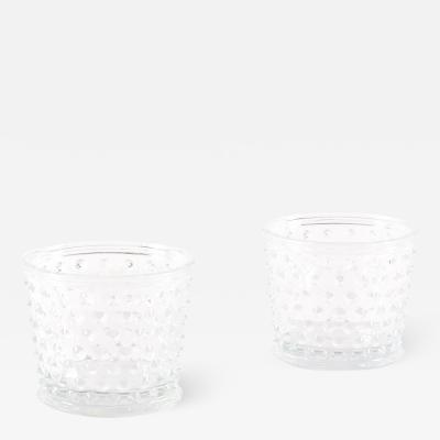 Josef Frank Pair of Hortus Glass Pots or Vases by Josef Frank