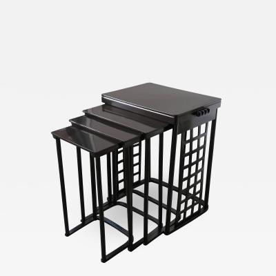 Josef Hoffmann Josef Hoffmann Nest of Tables with Grid