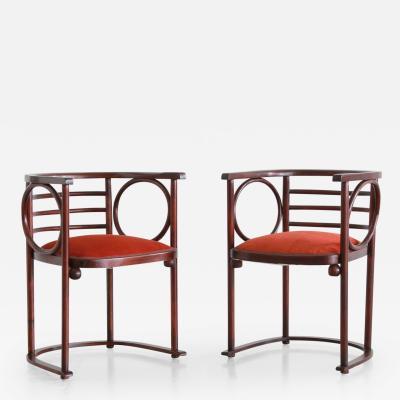 Josef Hoffmann Josef Hoffmann Pair of Fledermaus Chairs