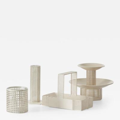 Josef Hoffmann Josef Hoffmann metal table set c1905 Bieffeplast Italy 1960s
