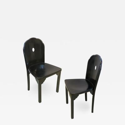 Josef Hoffmann Josef Hoffmann pair chairs