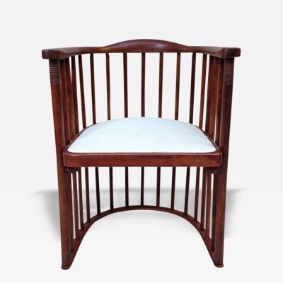 Josef Hoffmann Joseph Hoffman for Khon Signed Barrel Chair