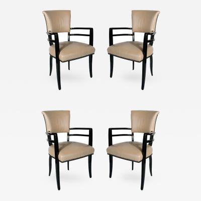 Josef Hoffmann Outstanding Set of 4 Josef Hoffmann Chairs
