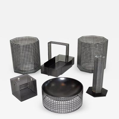 Josef Hoffmann Set of Six Accessories Josef Hoffman for Bieffeplast Weiner Werkstatte