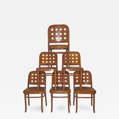 Josef Hoffmann Twelve Josef Hoffman Style 6010 Side Chairs