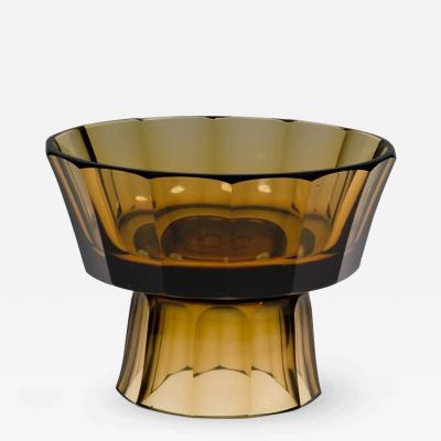 Josef Hoffmann Wiener Werkstatte documented Josef Hoffmann Centerpiece of brown glass ca 1916